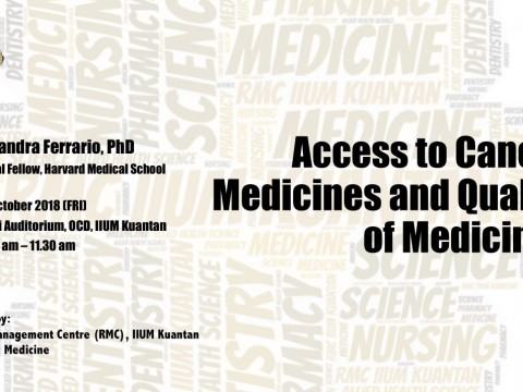 """TALK ON """"ACCESS TO CANCER MEDICINES AND QUALITY OF MEDICINES"""""""