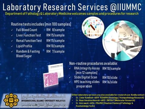 Laboratory Research Services @ IIUMMC