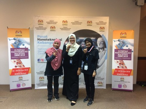 STUDENTS' ACHIEVEMENTS: Malaysia Nanotechnology Olympiad Competition (ONM) 2018