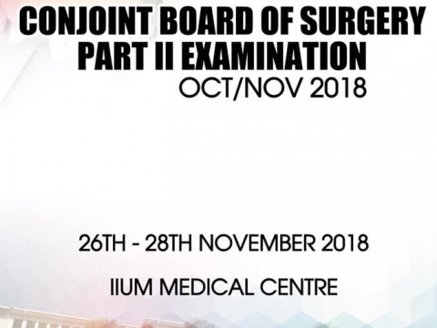 Conjoint Board of Surgery Part II Examination Oct/Nov 2018