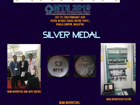Congratulations to Prof. Dato' Mansor  and Ir. Dr. Fairullazi on securing Silver Medal in MTE 2019!