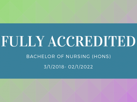 Full Accreditation of Bachelor of Nursing