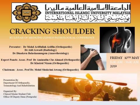 """Cracking Shoulder"" - KOM CPC by Dept. of Orthopaedic, Traumatology and Rehabilitation"