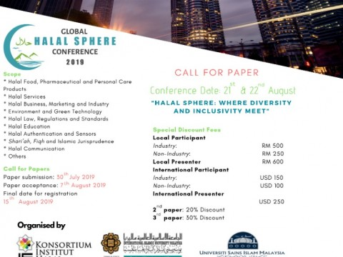 INVITATION TO PARTICIPATE IN THE GLOBAL HALAL SPHERE CONFERENCE 2019