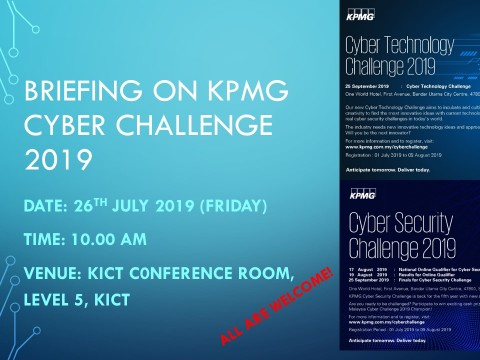 Briefing on KPMG Cyber Challenge 2019