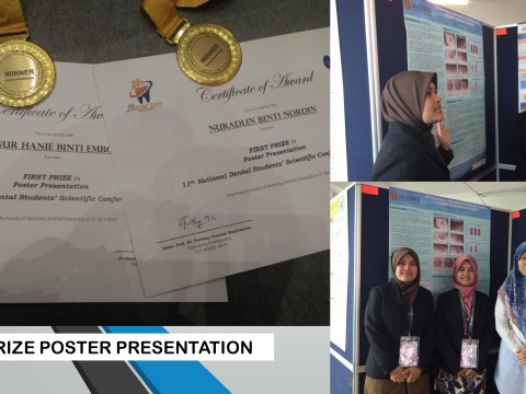 """Congrats KOD team for winning """"1st Prize Poster"""" during 11th National Dental Students' Scientific Conference"""