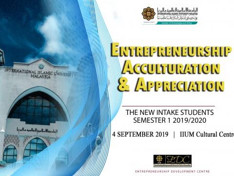Entrepreneurship Development Centre (EDC) Slot during Ta'aruf for New Student Sem. 1, 2019/2020