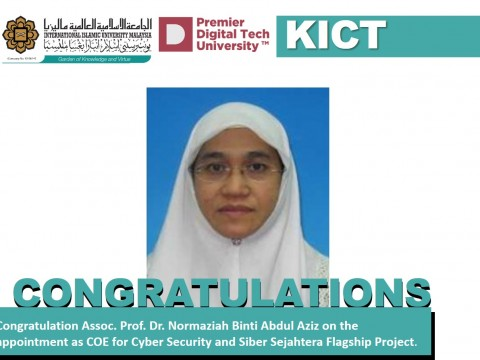 Congratulation on the appointment of Assoc. Prof. Dr. Normaziah Binti Abdul Aziz