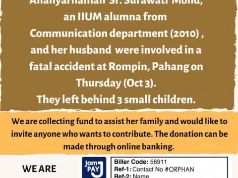Donation Drive to help  Children of Allahyarhamah Surawati Mohd