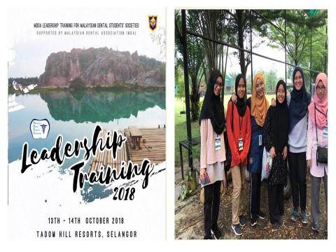 "KOD Student Participation in ""Leadership Training for Malaysian Dental Students' Societies (MDSA)"