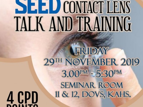 SEED Contact Lens Talk and Breath O Correct (Ortho-K) Training