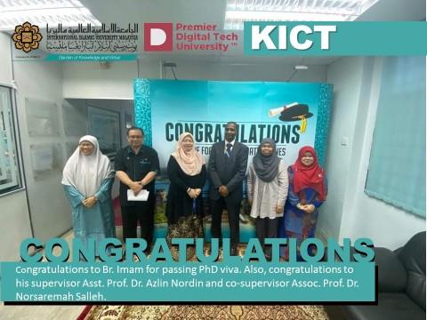 Congratulations to Br. Iman