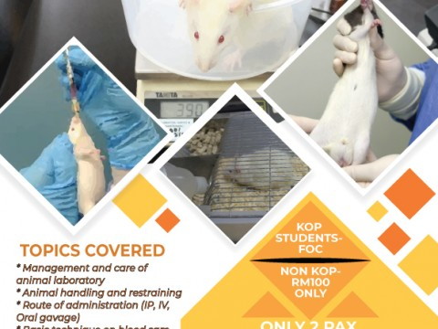 BASIC ANIMAL LABORATORY HANDLING, CARE AND USE