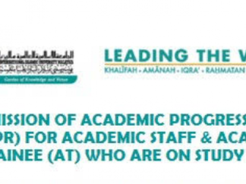 Tips of the Month : Submission of Academic Progress Report for Academic Staff & Academic Trainee Who are on Study Leave