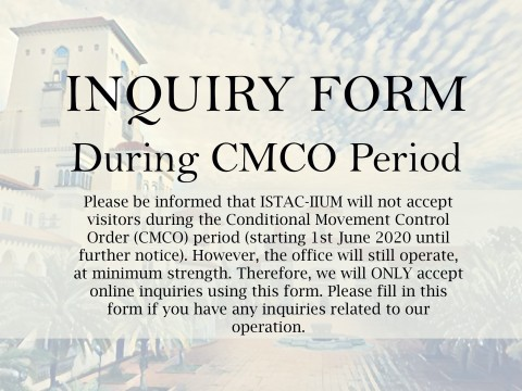 INQUIRY FORM DURING CMCO PERIOD