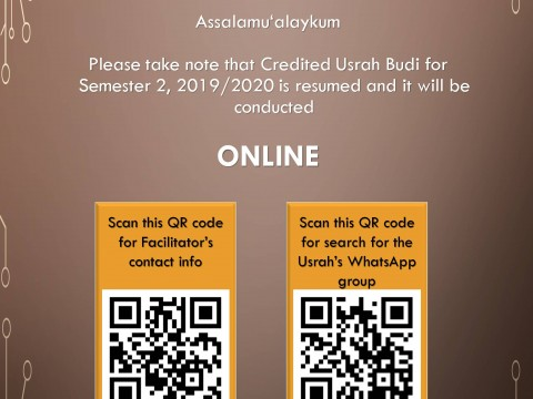 RESUME OF USRAH, SEMESTER 2, 2019/2020 SESSION