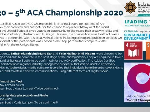 Top 30 – 5th ACA Championship 2020