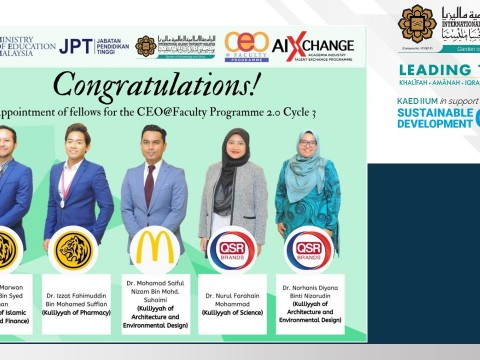 CONGRATULATIONS! For the appointment of fellows for the CEO@Faculty Programme 2.0 Cycle 3