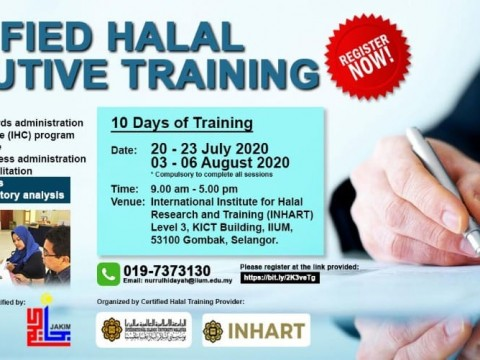 Certified Halal Executive Training 2020