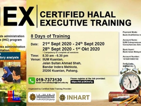 Certified Halal Executive Training September 2020