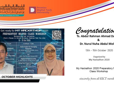 Congratulations to Ts. Abdul Rahman Ahmad Dahlan and Dr. Nurul Nuha