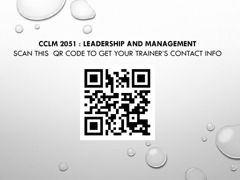 CCLM 2051 Trainer's Contact Info for  Semester 1, 2020/2021 Session (Student Affairs and Development Division)t Division)