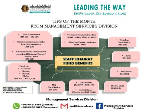 Tips of The Month : Staff Khairat Fund Benefits
