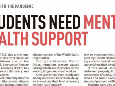 STUDENTS NEED MENTAL HEALTH SUPPORT