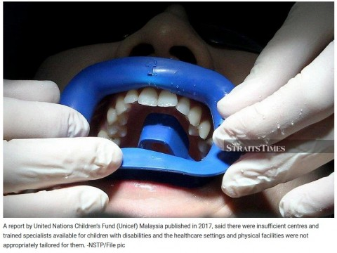 Consider dental needs of children with disabilities