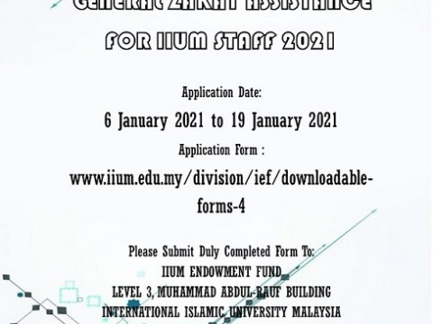 GENERAL ZAKAT ASSISTANCE FOR IIUM STAFF 2021