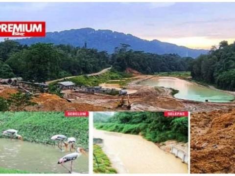Sungai UIAM dipenuhi lumpur, alam tercemar lagi