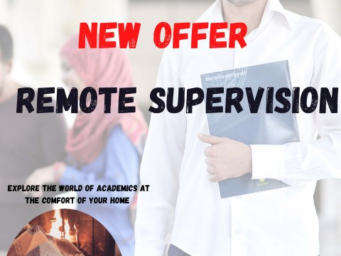NEW OFFER - REMOTE SUPERVISION