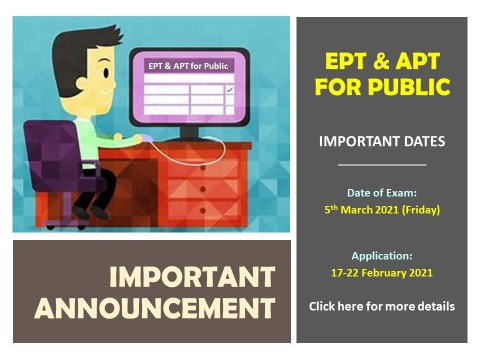 EPT & APT FOR PUBLIC (MARCH 2021)