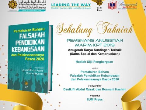 ANUGERAH MAPIM-KPT 2019 [Anugerah Karya Suntingan Terbaik]