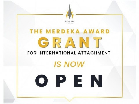Deadline : 3 May 2021, Apply for the 2021 Merdeka Award Grant for International Attachment Now!