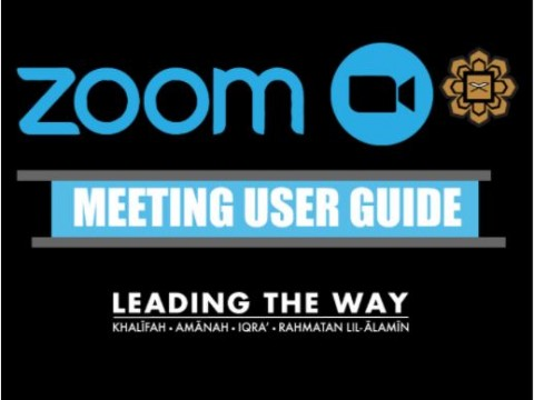 ZOOM MEETING GUIDE
