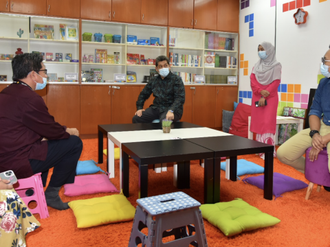 AIKOL PREPARES AN EXPRESSIVE ARTS THERAPY ROOM TO TEND THE MENTAL HEALTH OF STUDENTS