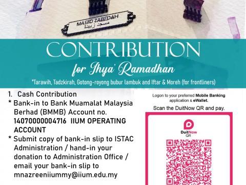 CONTRIBUTION FOR IHYA' RAMADHAN