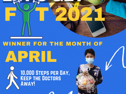 KOP's LET GET FIT 2021- APRIL WINNER
