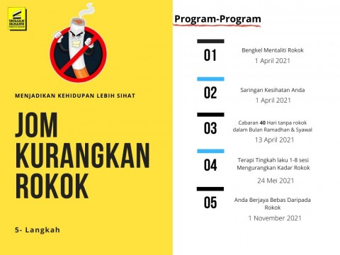 """Let's Reduce Smoking"" – Organised by Yayasan Pahang in collaboration with IIUM Smoke-Free Campus"