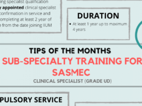 Tips of the Month : Specialty Training for IIUM Medical Officer