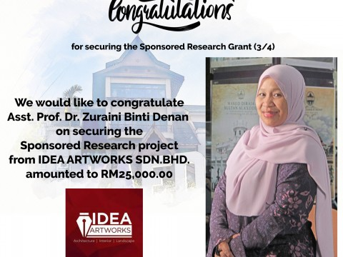 Congratulations for securing the Sponsored Research (3/4)