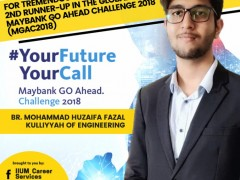 2nd Runner Up Winner in Maybank Go Ahead Challenge 2018