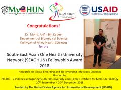 Congratulations!!! | Dr. Mohd Arifin Kaderi | Fellowship Award 2018