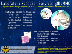Laboratory Research Services @ IIUMMC