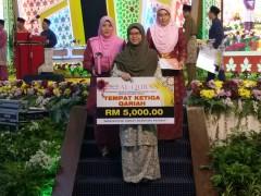 Congratulations Nurussyahamah on placing herself third in Majlis Tilawah Quran of Terengganu!