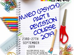 M.MED (PSYCH) Part II Revision Course 2019