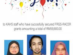 Congrats on securing FRGS-Racer Grants