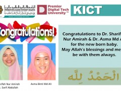 Congratulations to Dr. Sharifah Nur Amirah & Dr. Asma Md Ali for the new born baby.