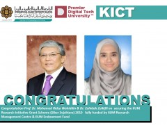 Congratulation KICT On Securing the IIUM Research Initiative Grant Scheme (IIUM Flagship) 2019
